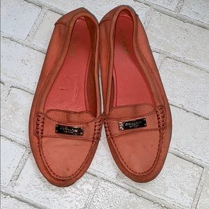 Coach coral loafers size 7 comfy!